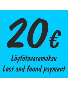 Löytötavaramaksu/lost and found payment